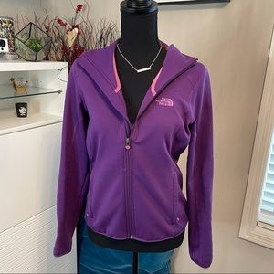 The North Face Purple Zip Up Size small
